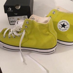 Converse Shoes - High Top Converse. Men's (10.5). Women's (12.5)